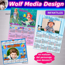 Imanes Calendario Souvenir Cumple Infantil Adulto Publicidad