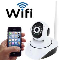 Camera Ip Sem Fio Hd 720p 1.3 Mp Wi-fi Noturna Gira 360 Grau