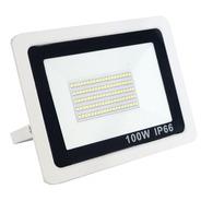 Refletor 100w Led Branco Smd Holofote Slim Bivolt Ip66