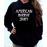 Blusa Moletom American Horror History Canguru Com Capuz