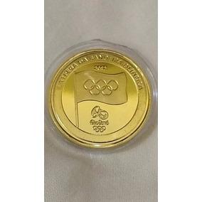 Moeda Da Entrega Da Bandeira Olimpíadas Rio 2016- Leia!!!