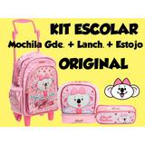 Kit Escolar Lilica Ripilica Mochila Gde+lanch E Estojo 2017
