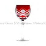 Conj Taças P Vinho Tinto Cristal Baixo Lapidado Vermelho 370