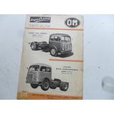 Folleto Om Super Orione Camion No Manual 1952 Fiat Antiguo