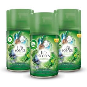 Kit Refil Odor. Freshmatic Bom Ar Air Wick Fr. Cachoei C/3un