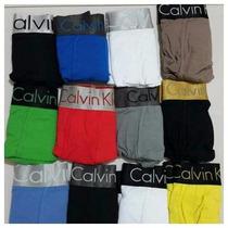 Boxer Largo Calvin Klein Liga Gruesa 100% Original Por Docen