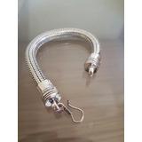 Pulseira Bracelete Cobra India Feito A Mão Prata 925