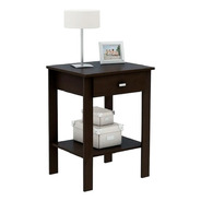 Mesa De Luz Con Cajon Diseño Minimalista Wengue