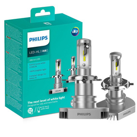 Par Lâmpada H4 Led Philips Ultinon Led 6200k 12v 15w Xenon