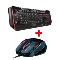 Mouse Gamer Maurus X Laser Genius Gx + Teclado Manticore