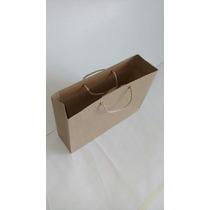 Bolsa De Papel Kraft Paquete Verticales 30x20x12