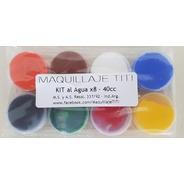 Maquillaje Titi Al Agua Kit 8x5cc Neto 40cc - Colores Varios