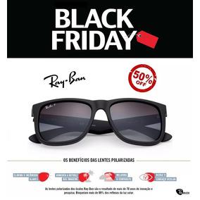 Óculos De Sol Ray Ban Justin Rb4165 Preto Masculino Polariza 62b117a19b