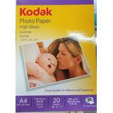 10 X Papel Fotografico Kodak A4 230 Grs 200 Hjs Envio Gratis