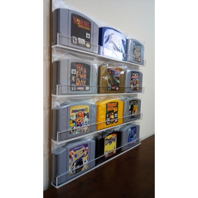 Nintendo 64 Caixa Painel Porta Jogos P/ 12 Fitas (35x38cm)