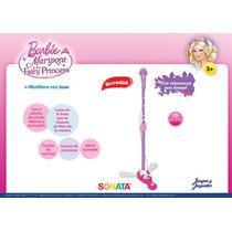 Microfono De Pie Barbie Con Altura Regulable