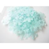 Kit Floco De Neve Fluorescente Azul Parede Teto Brilha