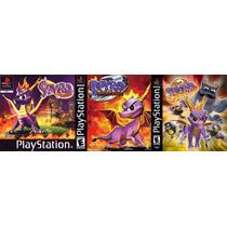Spyro 1 2 3 (3 Discos) Coleção Patch Ps1 Psx
