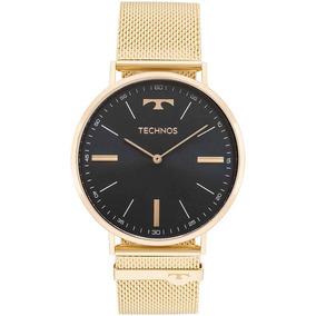 11ca8258ea356 Relógio Technos Masculino Slim 2025ltj 4p Dourado Esteira · R  599 90