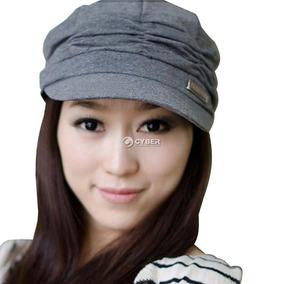 Estilo Coreano Mujeres Plisadas Gorra Sombrero... (grey)