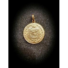 Dije En Oro Del Calendario Azteca