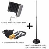 Kit Gravação-difusor Acústico+condensador Bm 800+suporte-top