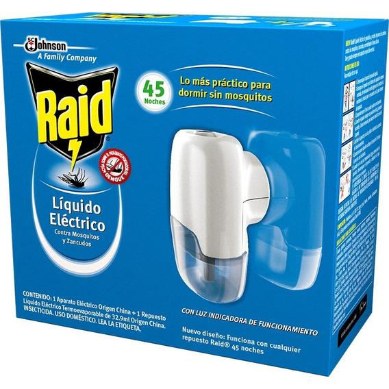 Raid Aparato Liquido Eléctrico Doble Acción 45 Noches 32.9ml