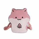 Bolsa Hamster Rosa Kawaii Harajuku Fofo Ratinho Mouse