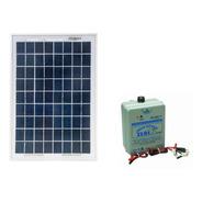 Kit Eletrificador De Cerca Animal 50 Km Zebu + Placa Solar