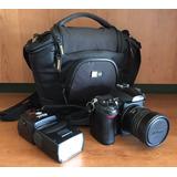 Nikon D7000 Con Lente Fisheye Y Flash Speedlight Sb-80dx