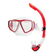 Snorkel Profesional Buceo Mascara Marfed Con Valvula Adultos