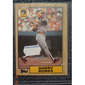 Tarjeta De Novato Rc Rookie Card De Barry Bonds Topps 1987