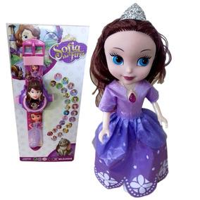 Boneca Personagem Infantil Princesinha Sofia Disney+ Relógio