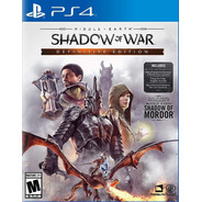 Ps4 Middle Earth Shadow Of War / Definitive Edition / Fisico