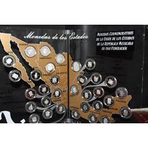 Colección De Monedas De Los Estados En Plata