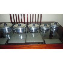 Conjunto De Panelas Em Alumínio Polido 05 Peças