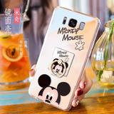 Funda Galaxy S8 Plus Mickey Mouse Espejo + Anillo