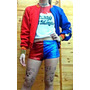Combo Cosplay Harley Quinn Completo Sin Campera Disfraz