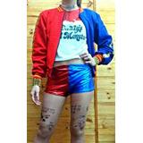 Combo Cosplay Harley Quinn Completo Sin Campera Disfraz
