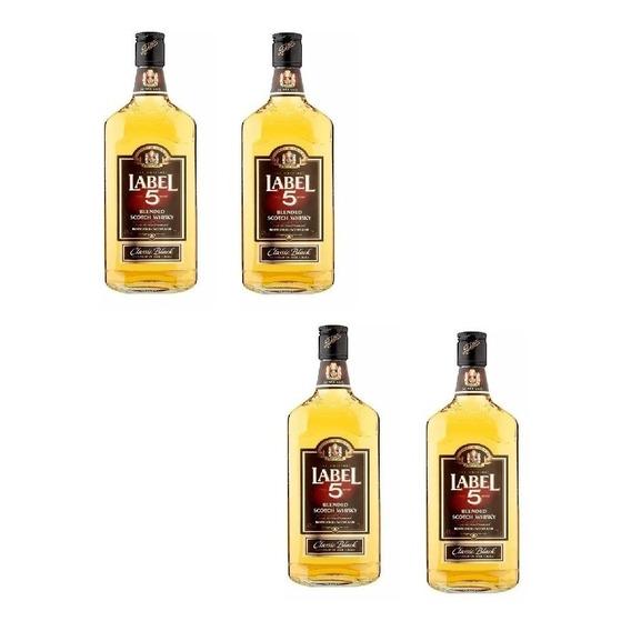 Whisky Label X 4 Botellas Imp. De Inglaterra / Envío Gratis