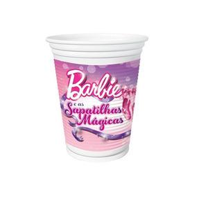 Copo Plástico Barbie Sapatilhas Mágicas