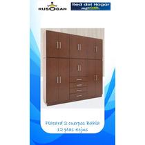 Placard Ropero Orlandi Bahia 12 Puertas 4 Cajones Rusogar