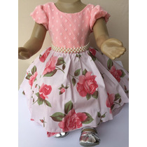 Vestido Princesa Luxo Infantil Menina Festa De 01 Ano