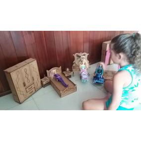 Boneca Barbie Moveis Dormitorio, Sala Jantar E S. Estar 1/6