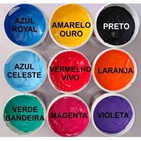8 Tintas Hidrocolor - 2 Metalcolor - 1 Emulsão - 1 Calha