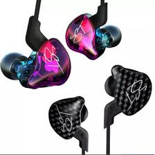 Auriculares In Ear Kz Zst Pro Monitoreo Dual Driver Originales Cable Reforzado Ideal Voz Guitarra Bajo Bateria Vientos