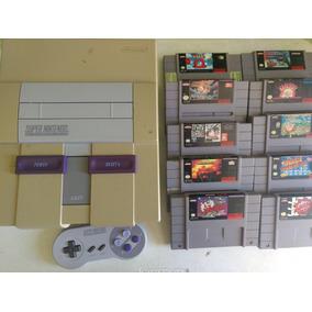 Fabuloso Super Nintendo Snes 10 Juegos Garantía Envio Gratis