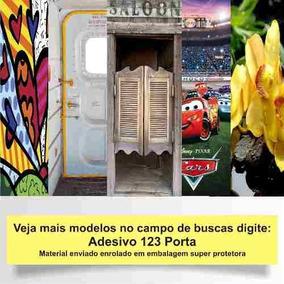 Adesivo 123 Porta Madeira Banheiro Wc Masculino Mod 779