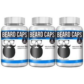 Kit Com 3 Beard Caps - 60 Cápsulas - Intlab