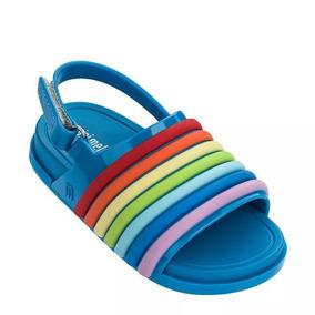 Mini Melissa Beach Slide Sandal Rainbow - 32486 - Original